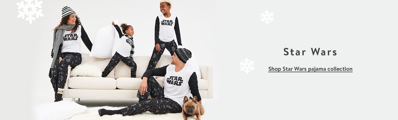 Star Wars. Shop Star Wars pajama collection.