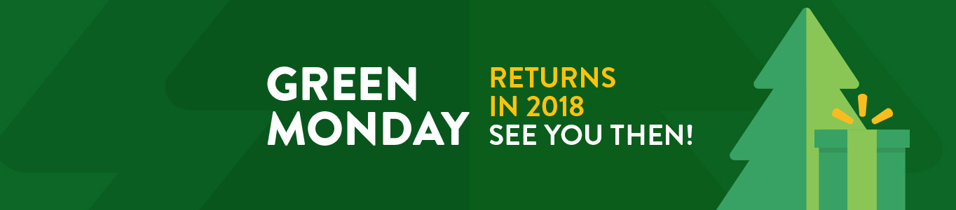 Green Monday returns in 2018, see you then!