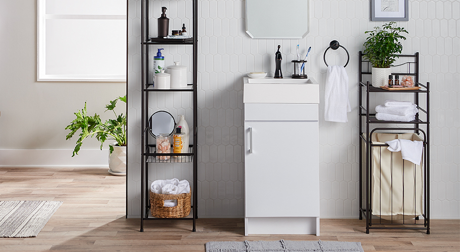 Spruce up and save with Mainstays. Find stylish storage solutions starting at $25. Get organized with space-savers, linen towers, and more—all designed to keep towels and toiletries in easy reach. Shop now.