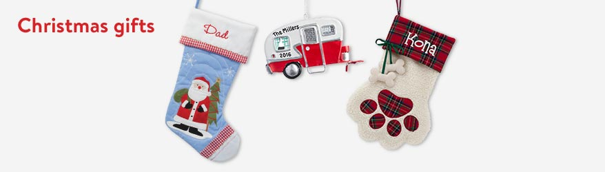 Shop personalized Christmas gifts