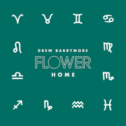 The Drew Barrymore Flower Home logo with all of the Zodiac signs. Links to a blog post about how to design with Drew Barrymore Flower Home and your astrological Zodiac sign.