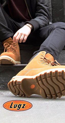 Lugz logo. Quality styles from Lugz. Superior comfort. Shop now.