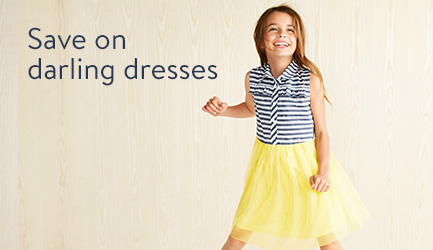 Save on darling dresses for girls.