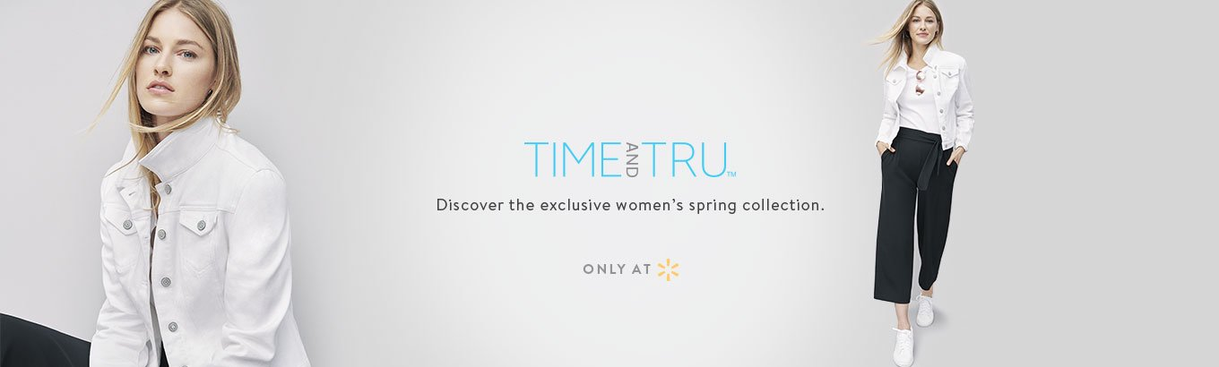 15f9ffb0d19b70 Time and Tru. Discover the exclusive women s spring collection. Only at  Walmart.
