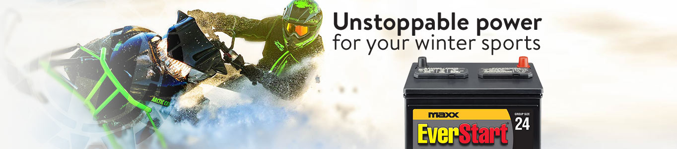 Unstoppable power for your winter sports. Shop Powersport battery.