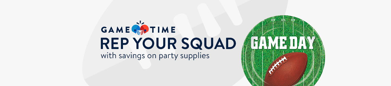 Rep your squad with savings on party supplies