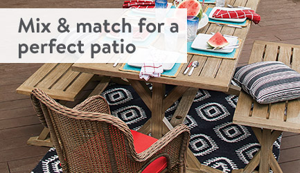 Mix & match for a perfect patio.