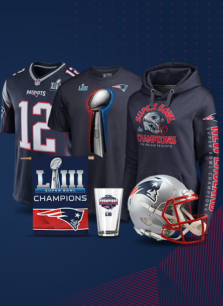 Shop authentic Patriots gear to celebrate their sixth Super Bowl win 1cb778836b87f
