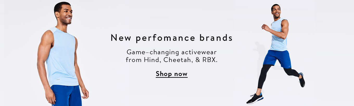 351c0c60 New performance brands. Game-changing activewear from Hind, Cheetah, and  RBX.