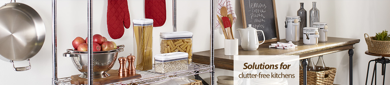 Solutions for clutter-free kitchens.
