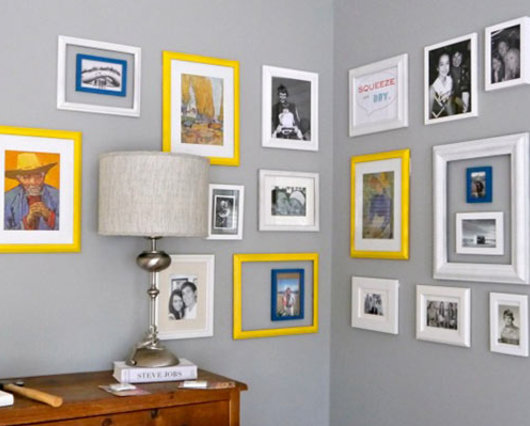 Ideas For Hanging Pictures On Wall Without Frames how to hang frames on walls without nails - walmart