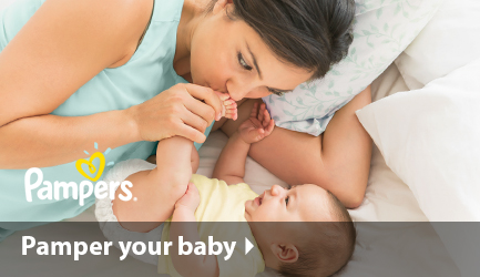 Pamper your baby with Pampers diapers