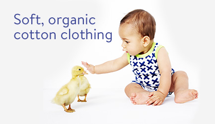 Soft organic cotton clothing