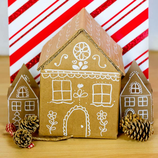Cardboard Gingerbread House Gift Box How-to - Walmart.com