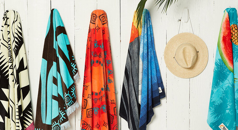 Beach Babes. Add more personality to your summertime play with new beach towels.