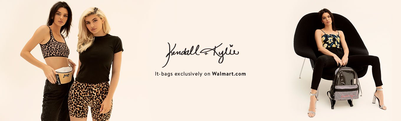 Kendall + Kylie. It-bags exclusively at Walmart.com.