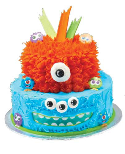 1st birthday lil' monster cake