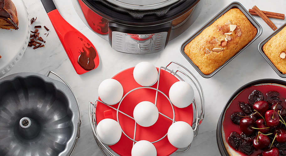 New from Instant Pot. Did you know you could make a cake in your Instant Pot? This multicooker really does it all. It's easier than ever now with a range of tools and accessories.