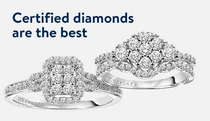 Certified diamonds are the best. Shop these rings!