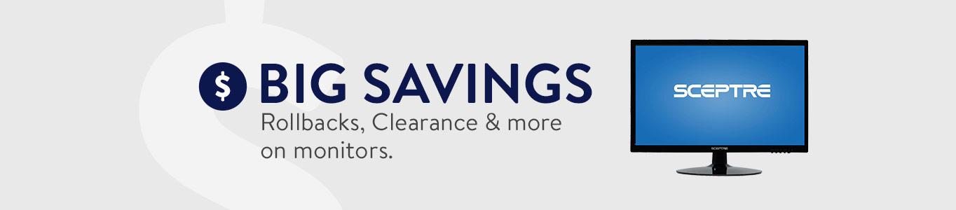 big savings rollbacks clearance u0026 more on monitors