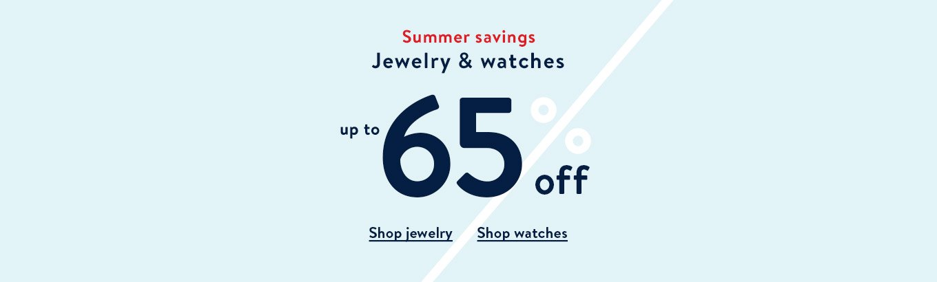 The Big Save. Jewelry & watches up to 70% off. Shop clothing. Shop jewelry. Shop watches. Limited time only.