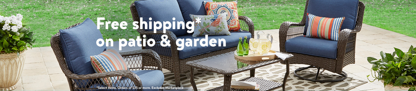 free shipping on patio and garden select items orders of 35 or more - Patio Decor