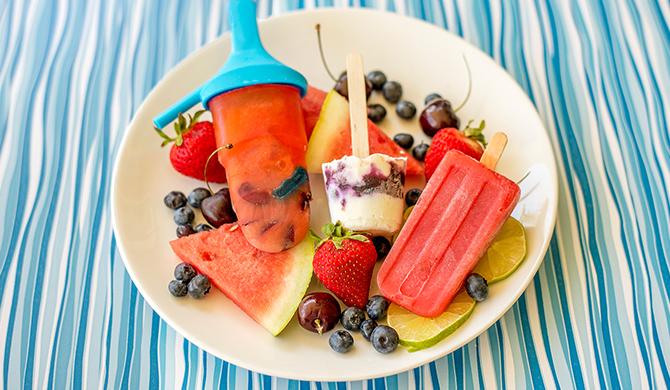 Homemade Fruity Ice Pops 3 Ways