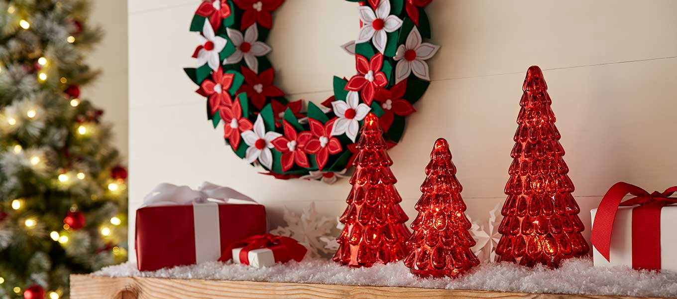 decor from belham living holiday time - Red Christmas Decorations