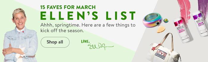 Shop Ellen's Faves for March