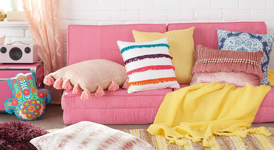 Colorful Pillows, Mirrors And Decor Are Easy Ways To
