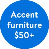 Accent Furniture from $50 at Walmart