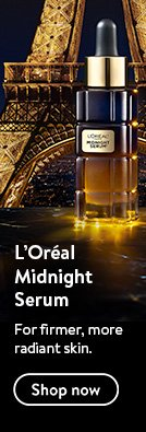 L'Oreal Midnight Serum. For firmer, more radiant skin.