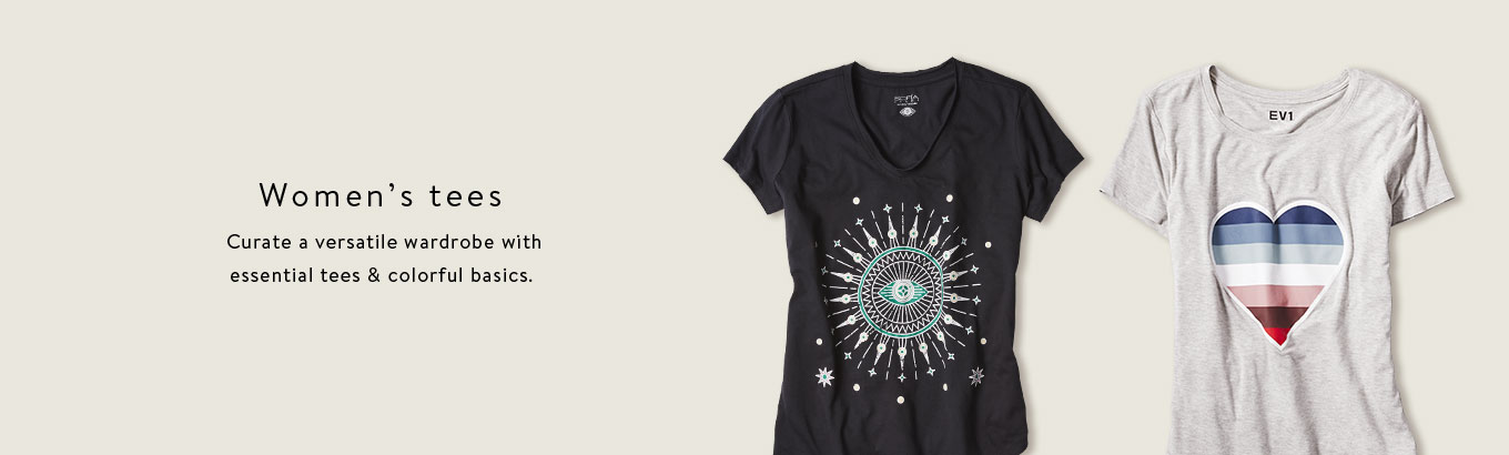 Women's tees. Curate a versatile wardrobe with essential tees & colorful basics