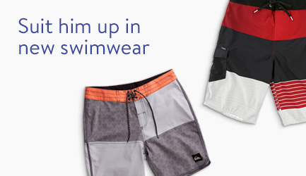 Suit him up in new swimwear