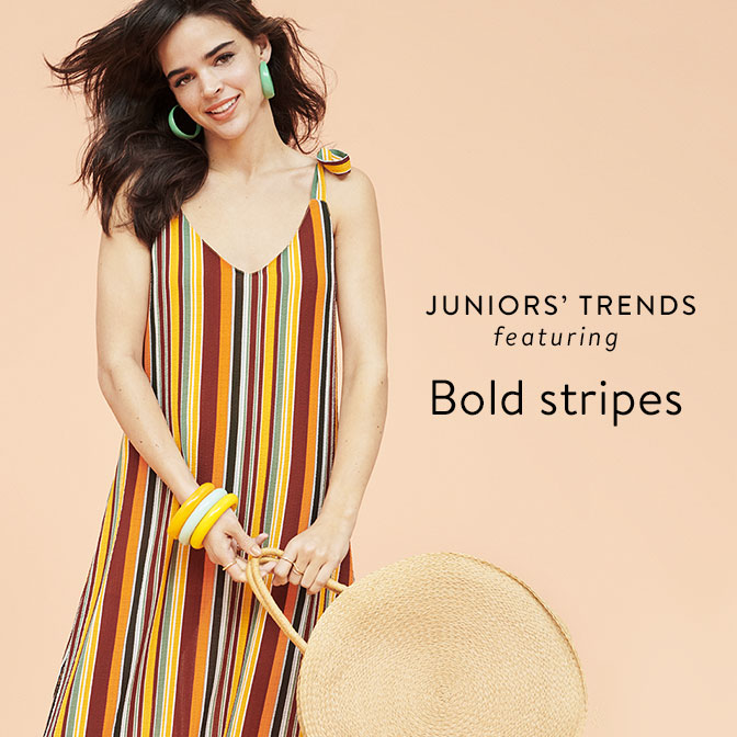 fbf07e4ce5ee22 Juniors  trends featuring Bold stripes