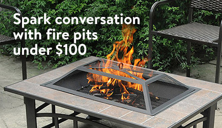 Spark interest with fire pits under $100.