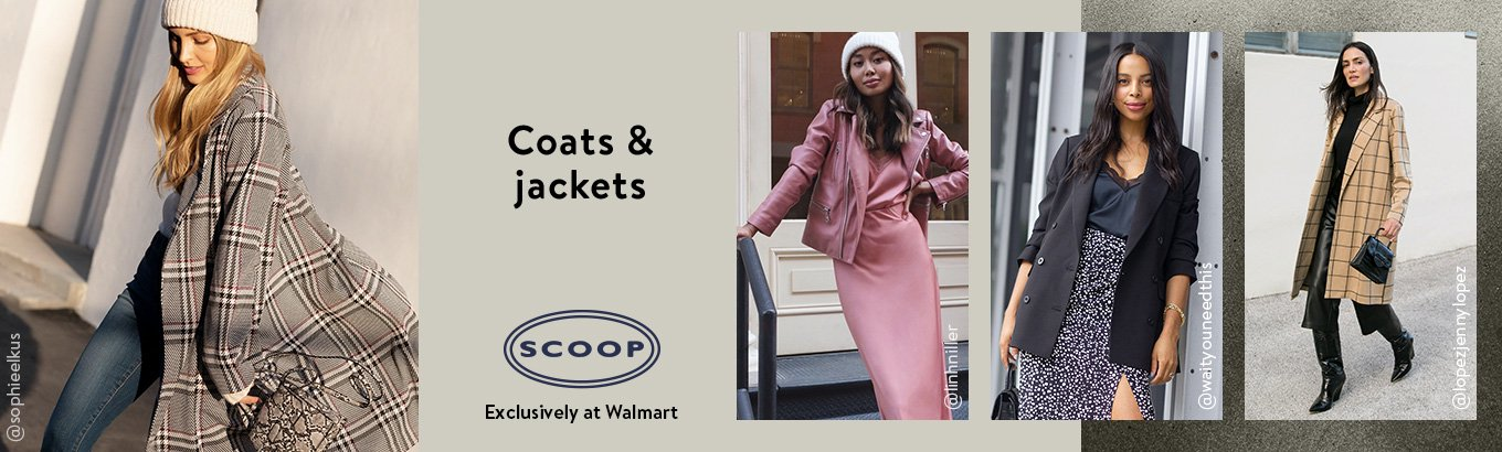 Shop Scoop coats and jackets, exclusively at Walmart.