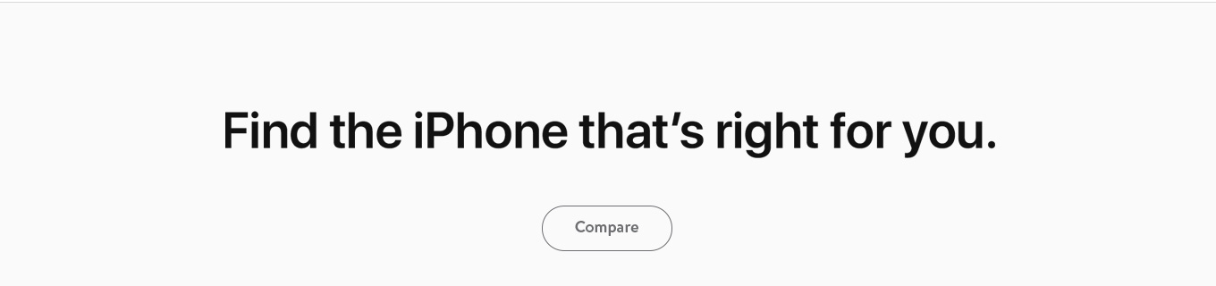 Find the iPhone that's right for you. Compare.