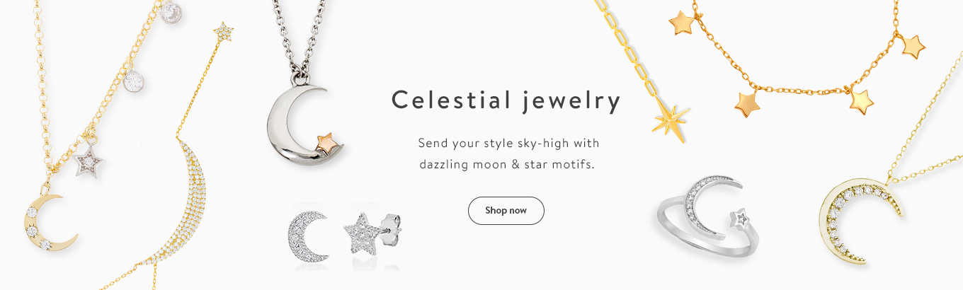 Celestial Jewelry Send Your Style Sky High With Dazzling Moon Star Motifs Shop
