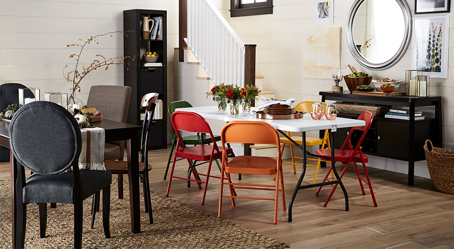 office table furniture design single make room for every guest and unexpected visitor with extra folding tables furniture walmartcom