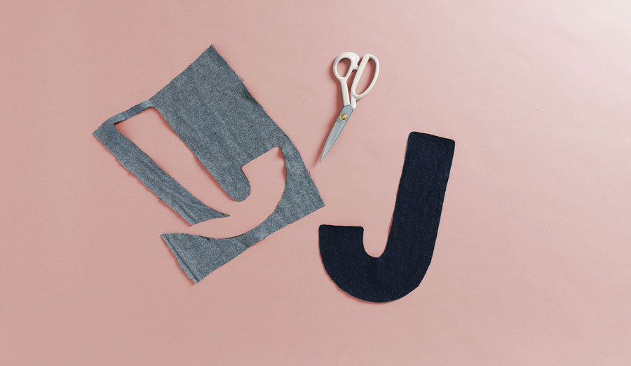 cut out shape of letter