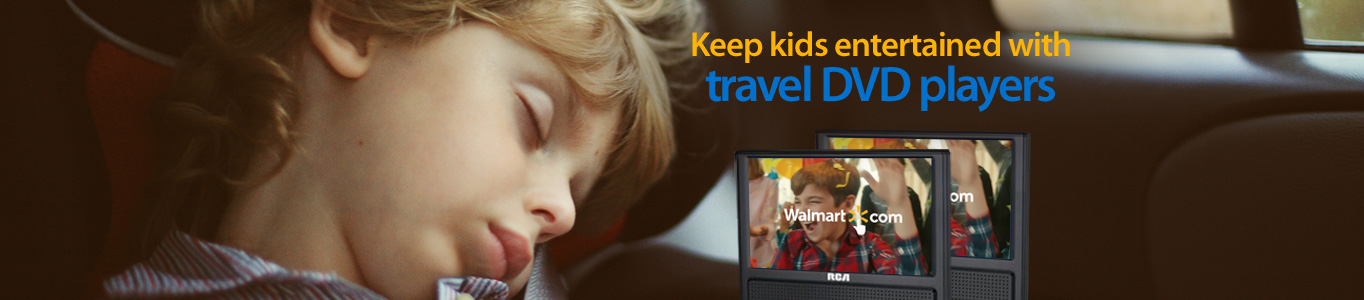 Keep kids entertained with travel DVD players
