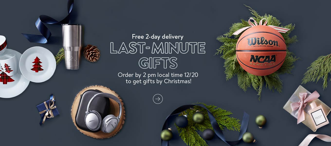 Free 2 Day Delivery. Last Minute Gifts. Order By 2 Pm Local