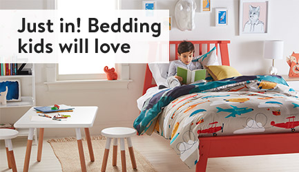 Just in! Bedding kids will love