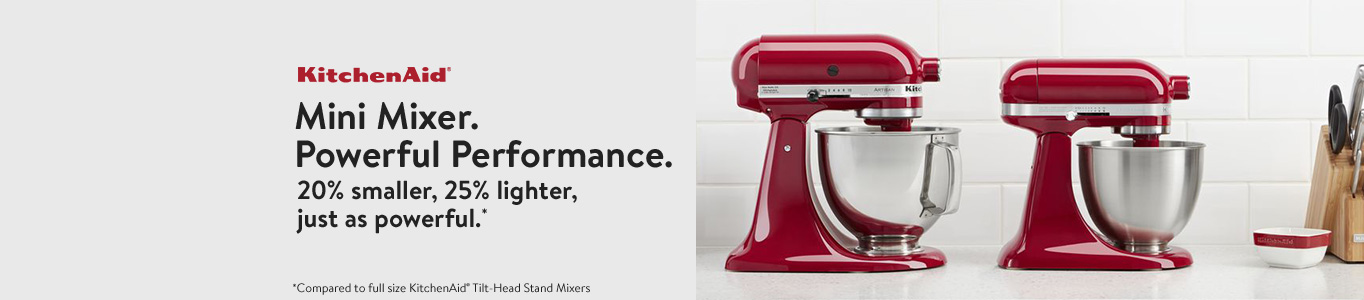 Mini Mixer. Powerful Performance. 20% smaller, 25% lighter, just as powerful.