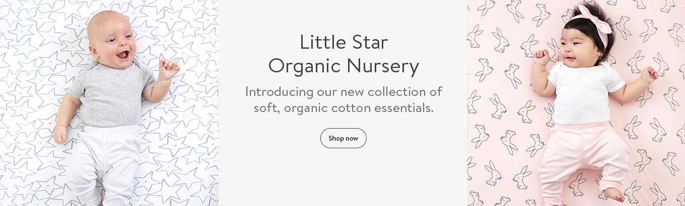 Little Star Organic Nursery. Introducing our new collection of soft, organic cotton essentials.