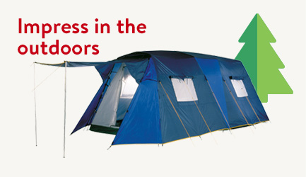 Impress for Less in the Great Outdoors.  Save now.