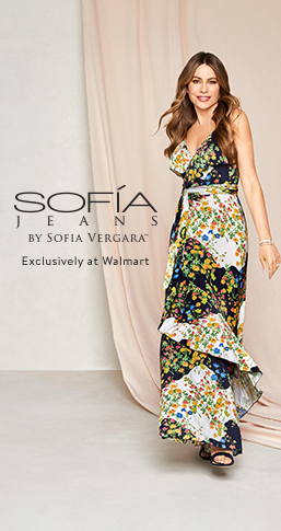 Sofia Jeans by Sofia Vergara, exclusively at Walmart. New styles from nineteen dollars. Shop dresses, denim, tops, and more.