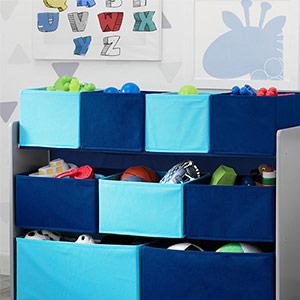 kids blue toy storage