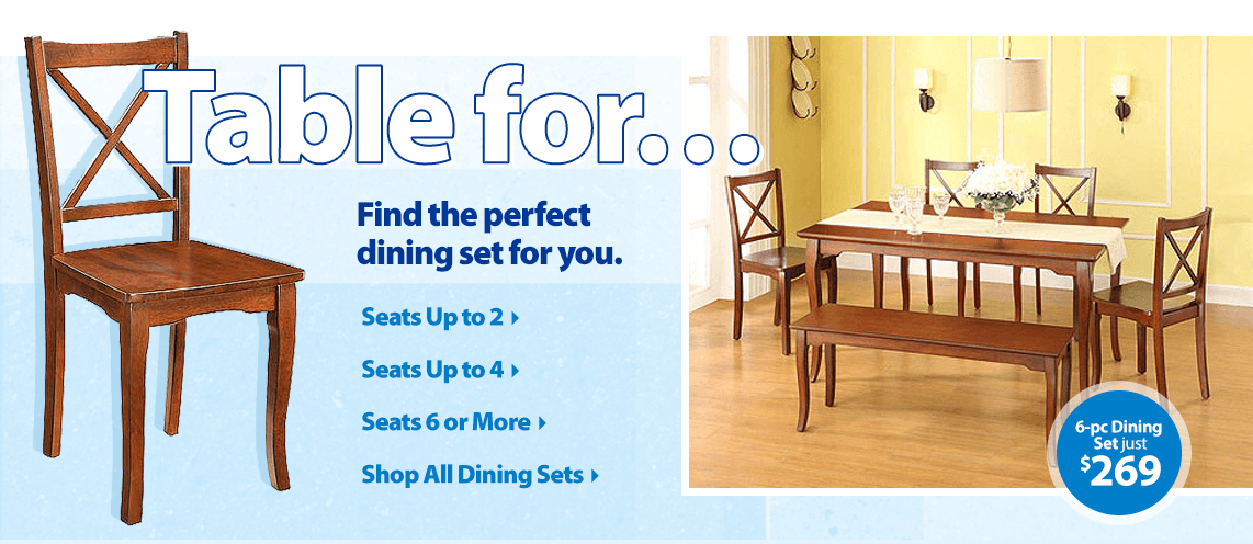 Find the perfect dining set for you.